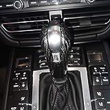TongSheng Real Carbon Fiber Gear Shift Knob Head Cover Trim Fit for Porsche Macan 2014-2020 S GTS Panamera 2014-2016 718 2016-2019 911 2008-2017 Boxster 2009-2015 Cayman 2009-2016