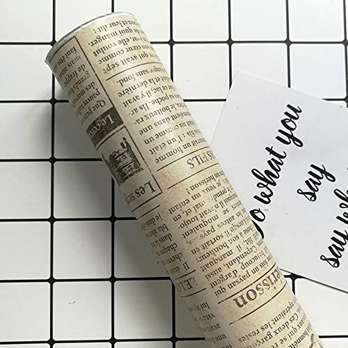 Papel Pintado De Pared Lateral Autoadhesivo Estilo Retro Patrón De Periódico Impermeable Papel De Contacto Decoración Del Hogar,B,45cm×10m