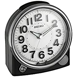 Seiko 'Bedside' Plastic Alarm Clock, Color:Black (Model: QHE143JLH)