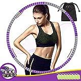 THOWALL Hula Hoop Reifen, Fitness Erwachsene Reifen Hoop 1,2 kg zur Gewichtsreduktion und Massage, 8 Segmente Abnehmbarer Hullahub für Erwachsene und Kinder