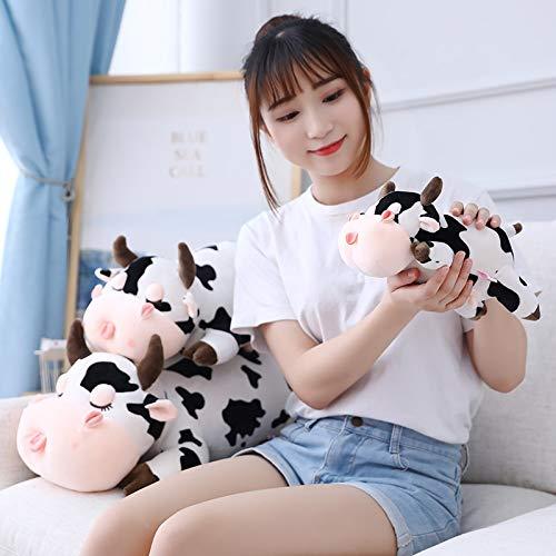 AYQX 30 CM Lindo Leche Vaca Juguetes de Peluche Kawaii Animal Relleno Vaca Almohada para niños niñas Dedo muñecas Regalo de cumpleaños