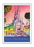 Pacifica Island Art Euro Disneyland - París, Francia - Imagina - Póster Viajes c.1990s - Impresión de Arte de Papel Premium de Bambú 290gsm - 31x41cm