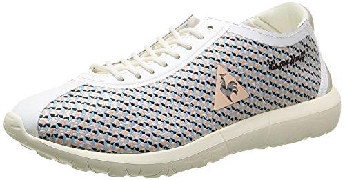 Le Coq Sportif Wendon Levity W Geo Jacquard Sneaker Damen, Weiß - Marshmallow Tropical Peach - Größe: 41 EU