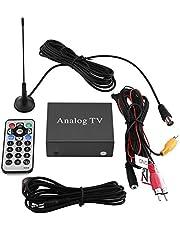 Kit de receptor de DVD para coche, Receptor de TV digital de DVD móvil para coche, Caja fuerte de señal de sintonizador de TV analógica con control remoto de antena