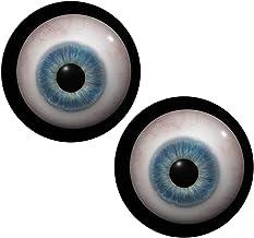 (J) スカルアイズカボーションガラスパーツ (サイズ)16mm 2個セット 両目 ドールアイ 人形の目 ぬいぐるみ フィギア 眼球 ドーム型 丸型 目玉 アクセサリーパーツ ハンドメイド DIY 人気
