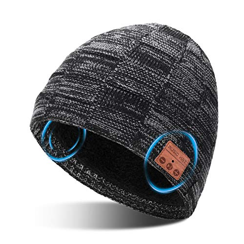 MISSHALO Unisex Wireless Bluetooth Beanie Hat V5.0 Outdoor Music Winter Hat