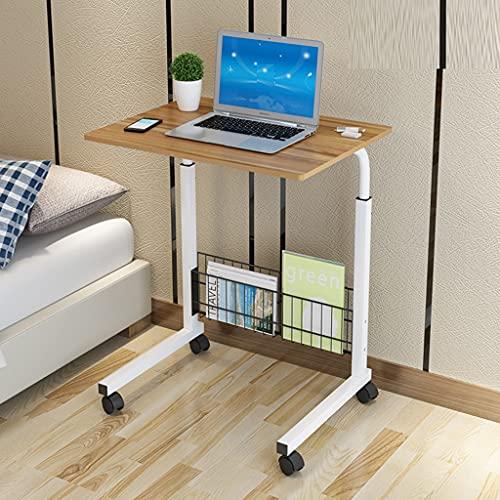 WERTYG Tabla Portátil Móvil 60 X 40 × 70-90 Cm Mesa Ajustable de La Mesa de la para la Cama A Lectura de del Sofá Mesa Plegable (Color : A)