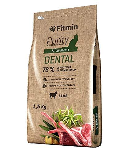 Fitmin Dental 1,5KG Croccantini Crocchette per Gatti per l'igiene Dentale Pulizia Denti Tartaro 80% Carne Fresca e disidratata Agnello Grain Free Naturale