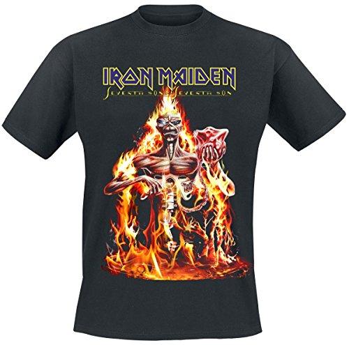 Iron Maiden T Shirt Seventh Son Album Band Logo Offiziell Herren Nue