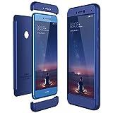 CE-Link Funda Huawei P8 Lite 2017, Carcasa Fundas para Huawei P8 Lite 2017, 3 en 1 Desmontable Ultra-Delgado Anti-Arañazos Case Protectora - Azul