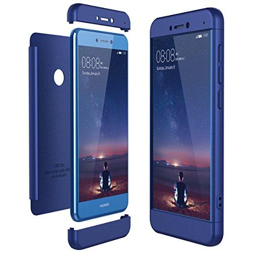 CE-LINK Housse Etui en PC Matière pour Huawei P8 Lite 2017, Coque Huawei P8 Lite 2017 P8 Lite 2017 Coque Cover pour Huawei P8 Lite 2017 Anti Choc - Bleu