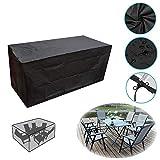 MOMIN Fundas para Muebles Muebles de poliéster de PVC Tela Resistente al Aire Libre Cubierta Impermeable Cover Set Muebles Cubierta Exterior Muebles del Patio (Color : Black, Size : S)