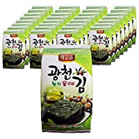 [セール] 韓国 広川 緑茶オリーブ 味付けのり 海苔お弁当 32袋 (4gx32袋) 韓国味付けのり