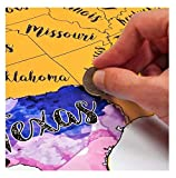 Scratch Off USA Watercolor Map by McScout Maps | Educational & Colorful Decorative Art 24X17 Inch Poster Wall | Mark Your Travels for United States Travelers