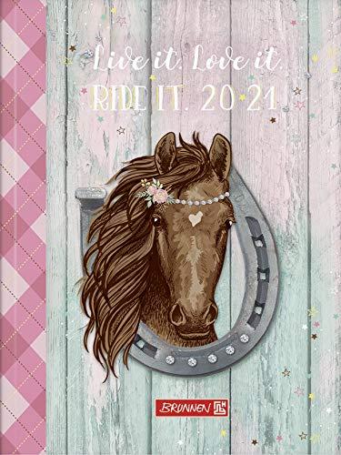 """BRUNNEN 1071810081 """"Ponylove"""", Wochenkalender/Schülerkalender 2020/2021, 2 Seiten = 1 Woche , Blattgröße 12 x 16 cm , A6 , Broschur-Einband"""