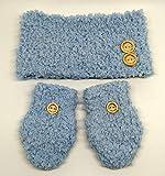 Cuello y manoplas para bebé de crochet, de color a elegir, tallas de 0 hasta 12 meses, hechos a mano en España. Regalo para bebé.
