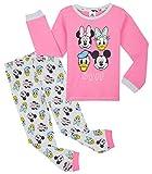Disney Pijama Niña, Pijama Niña Invierno con Personajes Mickey Mouse Minnie Pluto, Conjunto 2 Piezas Camiseta Manga Larga y Pantalon, Regalos para Niñas Edad 18 Meses - 12 Años (Rosa, 3-4 años)