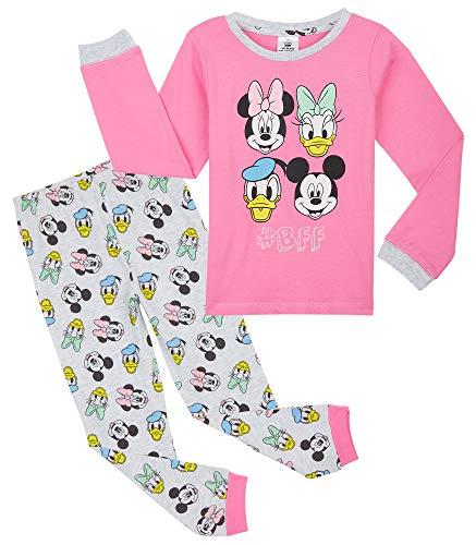 Disney Pijama Niña, Pijama Niña Invierno con Personajes Mickey Mouse Minnie Pluto, Conjunto 2...