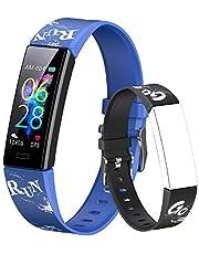 Dwfit Fitnesstracker, smartwatch, voor kinderen en meisjes, stappenteller, smartwatch, activiteitstracker, waterdicht, sporthorloge, hartslagmeter, pols, slaap, calorieënteller, voor Android en iOS
