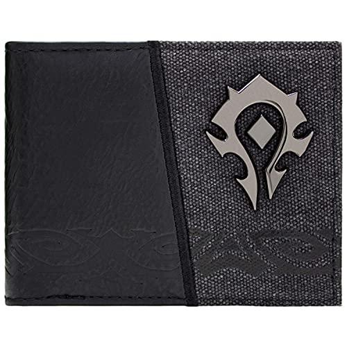 Cartera de World of Warcraft Horde Insignia de facción Negro