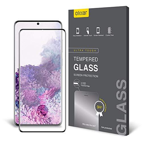 Olixar - Protector de pantalla de cristal templado para Samsung Galaxy S20 Plus, a prueba de golpes, antiarañazos, antiroturas, sin burbujas, clara HD claridad, cobertura completa, fácil de aplicar