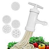 Roxin Utensili da Cucina manuali con Macchina per Pasta con pressa per Pasta con 5 Diversi stampi per pressatura Rendono Gli Utensili da Cucina per Spaghetti