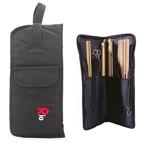 Rio Nylon Drumstick Bag Holder Carry Case Black - New