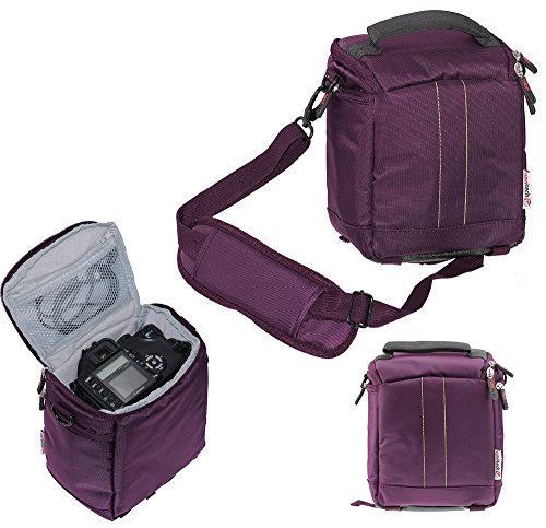 Navitech Lila Digital SLR Kamera Schutz Tasche Etui Cover für Canon PowerShot SX410 is