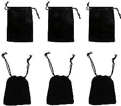 black velvet bag with drawstring