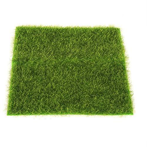 remote.S 2 tamaños de césped Artificial Felpudo para Interiores/Exteriores Alfombra Verde para el jardín Accesorios para el hogar Decoración para acuarios Jardín de césped Artificial Real Touch Moss
