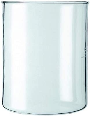Spare Glass for Bodum French Press Without Spout, 4 Cup, 0.5 L, 17 Oz.