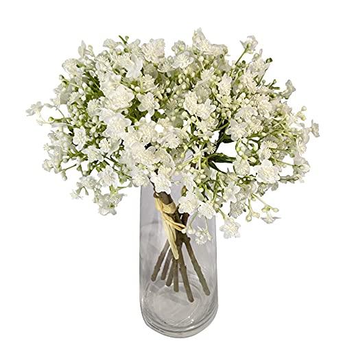 Ramo de flores artificiales Gypsophila para manualidades, bodas, fiestas, decoración del hogar, 2 paquetes