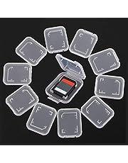 LINKLANK 10 stks Geheugenkaart Case, Geheugenkaart Opbergdoos Transparante Plastic Opbergdoos Houder Voor SD MMC Micro SD TF Kaarten
