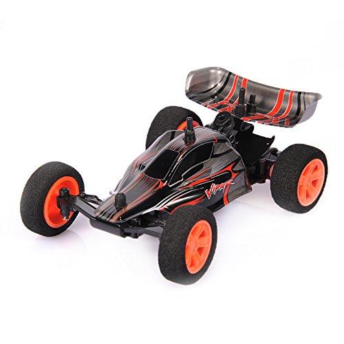 Ebilun RC Felsen Geländewagen 1/32 2.4G Mini RC laufendes Auto Ausgangs Träger-Radiosteuerung elektrisches Buggy Spielzeug USB nachladbares Batterie Schwarz