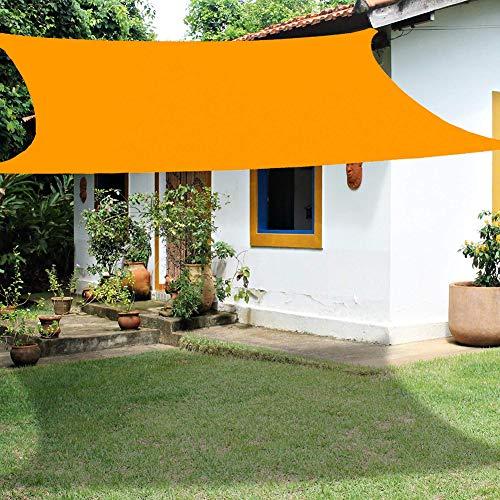 Toldo Vela De Sombra Rectangular, 3X4 Metros Prevención Rayos UV Solar, Protección Resistente Transpirable para Jardín, Patio. (Amarillo Mango),3 * 4M