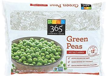 365 Everyday Value, Green Peas, No Salt Added, 16 oz, (Frozen)