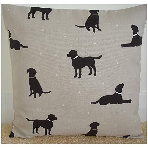 H34565ard kussensloop van 40 cm x 40 cm Chocolade Labrador vierkant accent kussensloop 65 cm donkerbruin Lab Retriever hond kussen Slip Sham Case honden