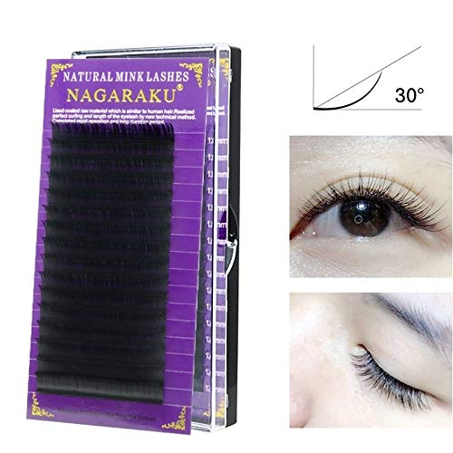 Maquillage Bea 16Rows Maquillage naturel cils noirs Outils faux cils Cils Extension, Curl: J, Epaisseur: 0.10 mm (8 mm) (Color : 12mm)