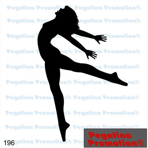 Piktogramm Typ 196 Icon Symbol Zeichen Tänzerin Tanzen Tanzschule Aufkleber Sticker ca.15cm von Pegatina Promotion® Aufkleber mit Verklebehilfe von Pegatina Promotion® ohne Hintergrund geplottet