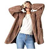 Photo de Cardi Women's Winter Coat Open Front Outwear Hooded Faux-Fur Shaggy Long Sleeve Jacket par