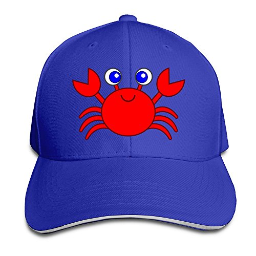 Broderick Tate Cartoon Crab Unisex 150% Cotton Adjustable Trucker Hat Ash One Size
