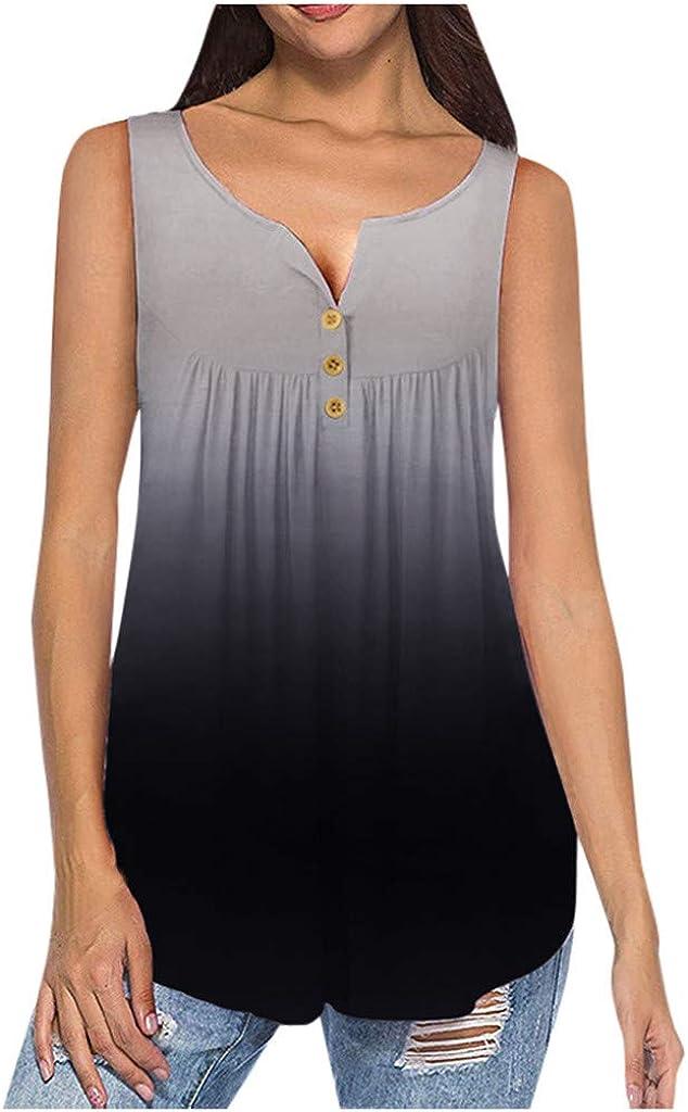 NKAA Womens Short Sleeve Summertime Fashion O-Neck Blouse Vest Blouse