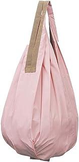 マーナ(MARNA) Shupatto (シュパット) コンパクトバッグ Drop (ドロップ) ピンク 縦型 しずく 一気にたためるエコバッグ S460P バッグ使用時:28×56cm