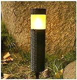 ZHMIAO Luces solares de imitación de llama de ratán, luces de jardín, enchufables, para exteriores, patio, iluminación impermeable