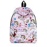 ZBK Mochila escolar de unicornio para estudiantes, niñas, 6 colores