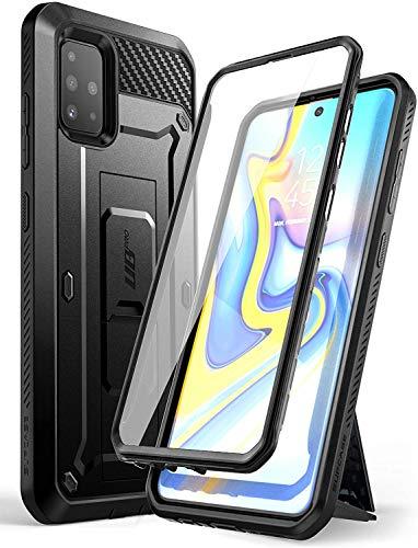 """SUPCASE Hülle für Samsung Galaxy A51 (6.5\"""") Case 360 Grad Handyhülle Outdoor Schutzhülle Bumper Cover [Unicorn Beetle Pro] mit Integriertem Displayschutz, Gürtelclip und Ständer (Schwarz1)"""