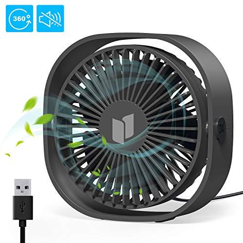 Tencoz USB-ventilator, mini-usb-tafelventilator, handventilator, kleine pc-ventilator, draagbaar en persoonlijk voor thuis en op kantoor
