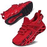 Vivay Turnschuhe Kinder Sportschuhe Mesh Atmungsaktiv Laufschuhe Sneaker Hallenschuhe für Damen,2Rot,36 EU