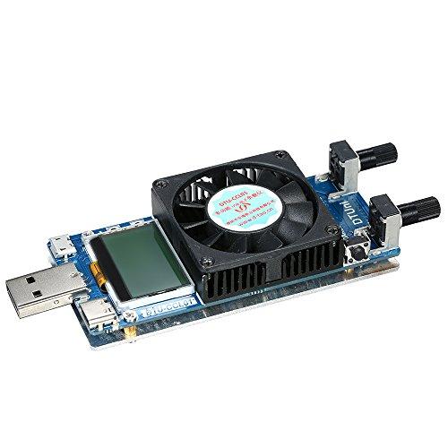 KKmoon USB Electronic Load Tester Strom Widerstand Power Batterie Tester 【Multifunktionale 0,2A ~ 3A 35W LCD USB Elektronische Last Tester Modul】 mit Lüfter