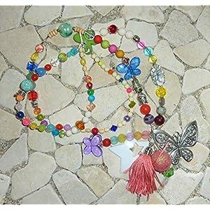 lange Kette HIPPIE BOHO IBIZA PEACE – Schmetterling – bunt –